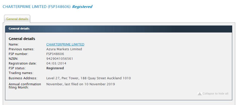 CharterPrime license