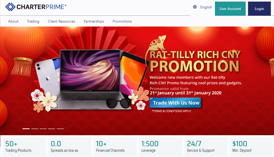 CharterPrime website