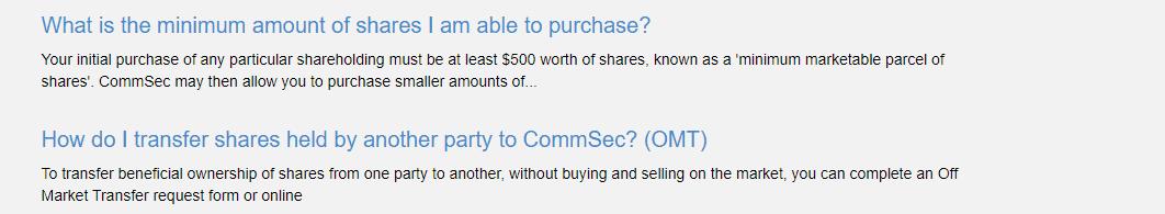 CommSec money transactions