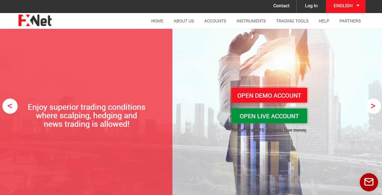 FxNet website