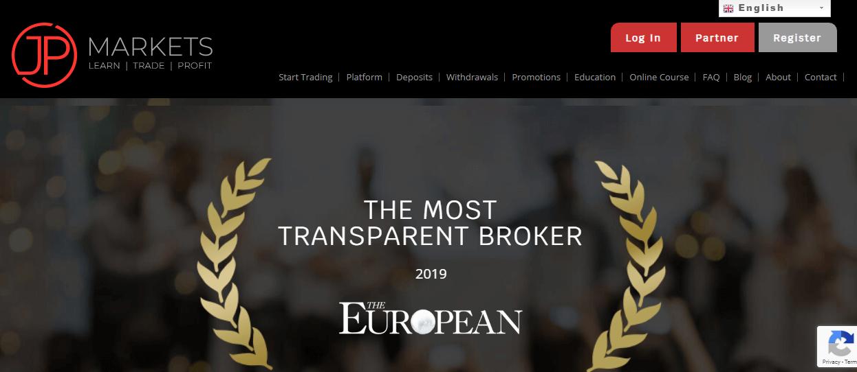 JP Markets website