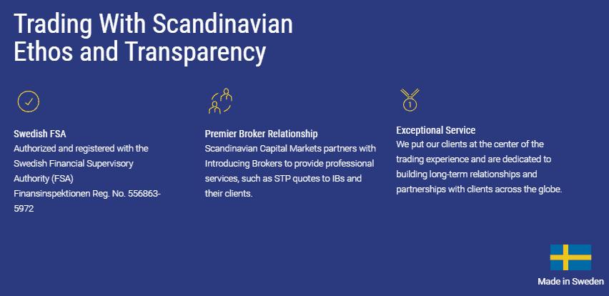 Scandinavian Capital Markets license