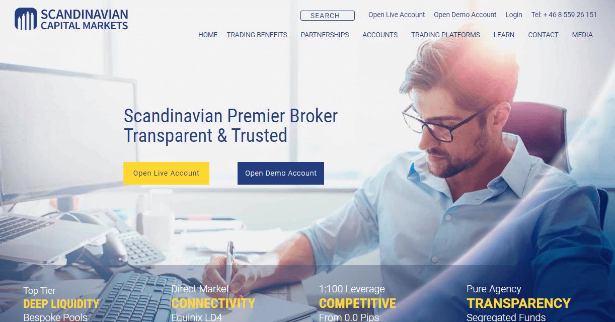 Scandinavian Capital Markets website