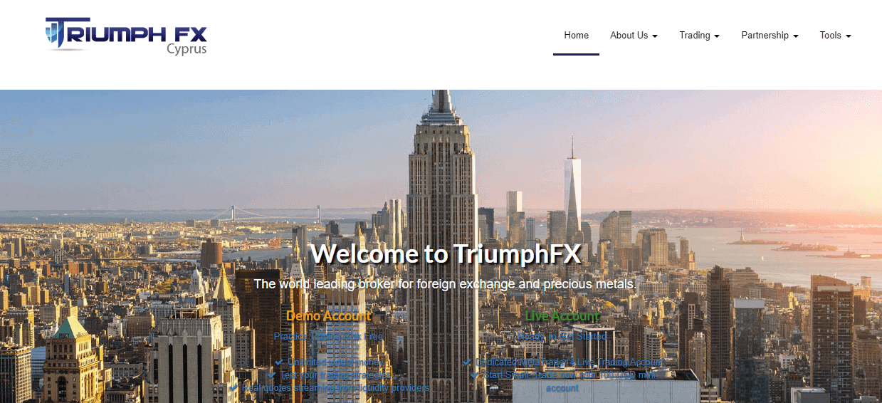 TriumphFX website