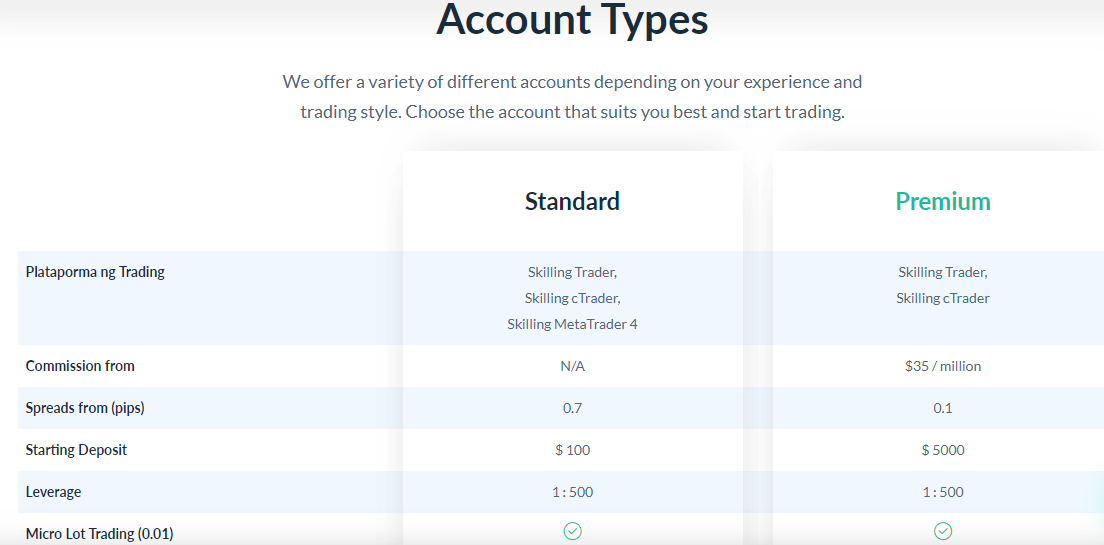 Skilling accounts