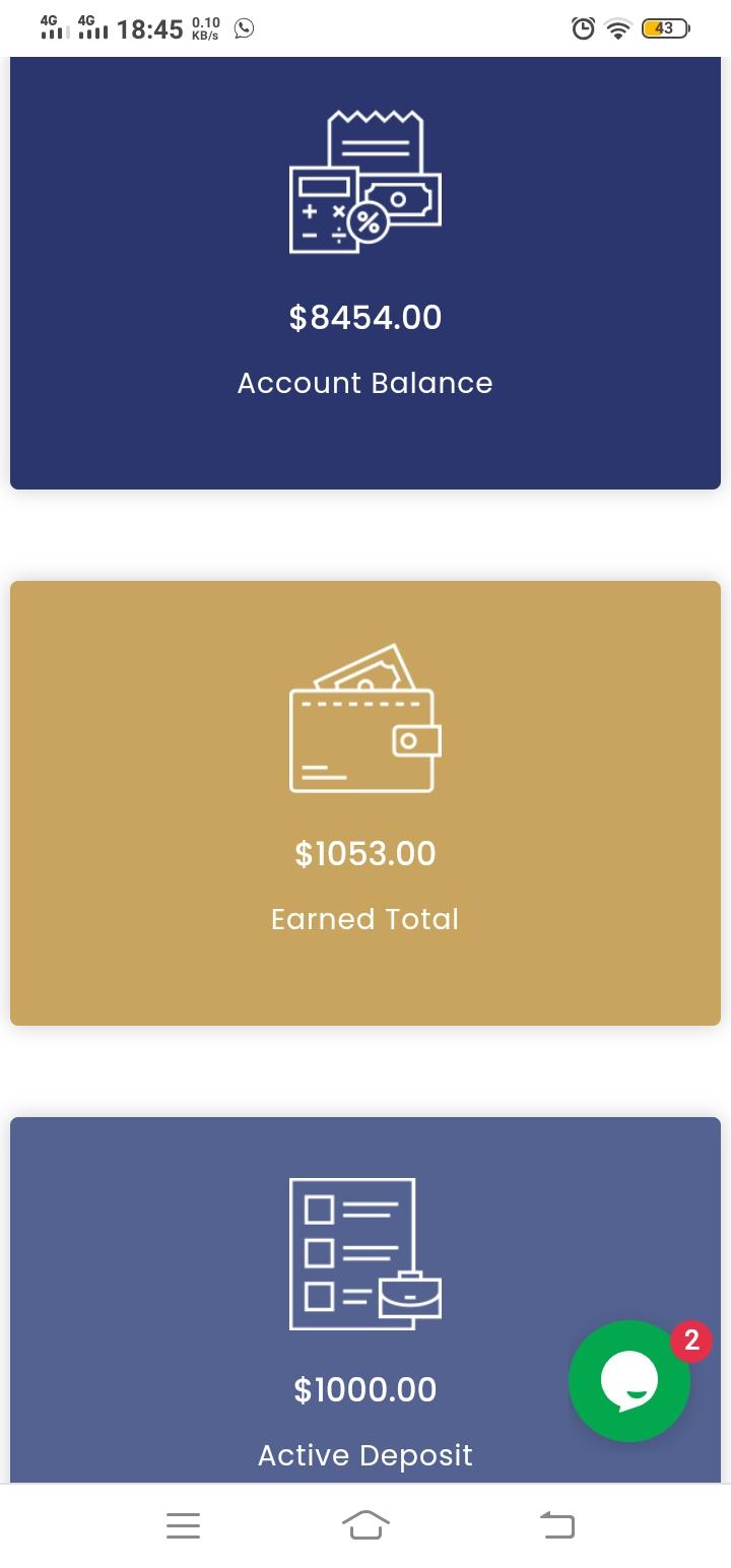 My Account Balance Screen Shot