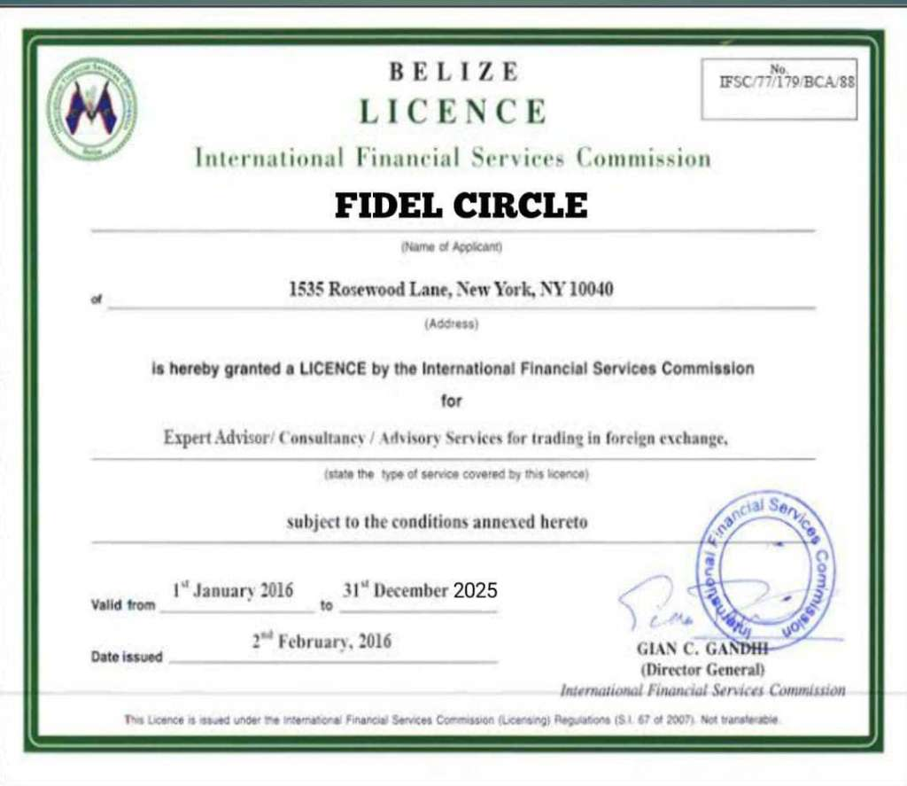 Is Fidel Circle Licensed And No Complaints?