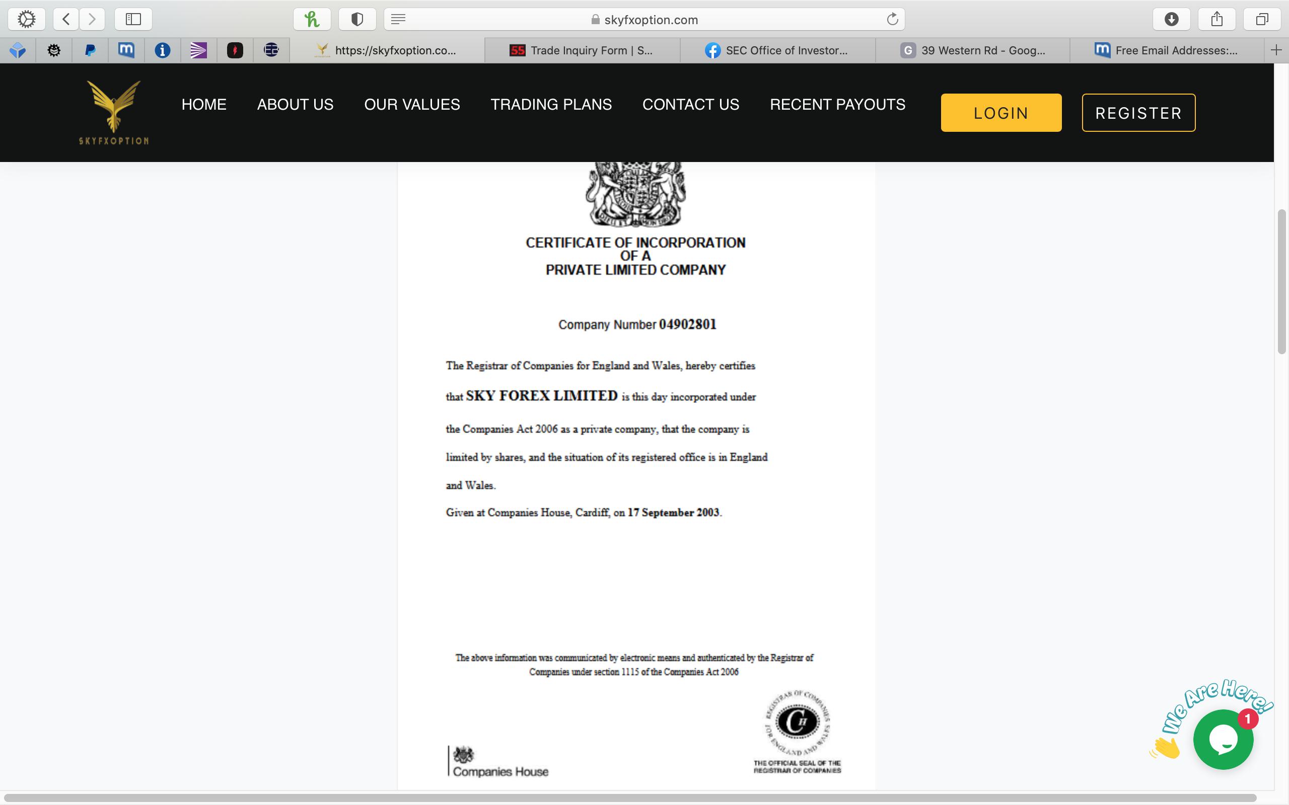 Is Skyfxoption Licensed And Legitimate?