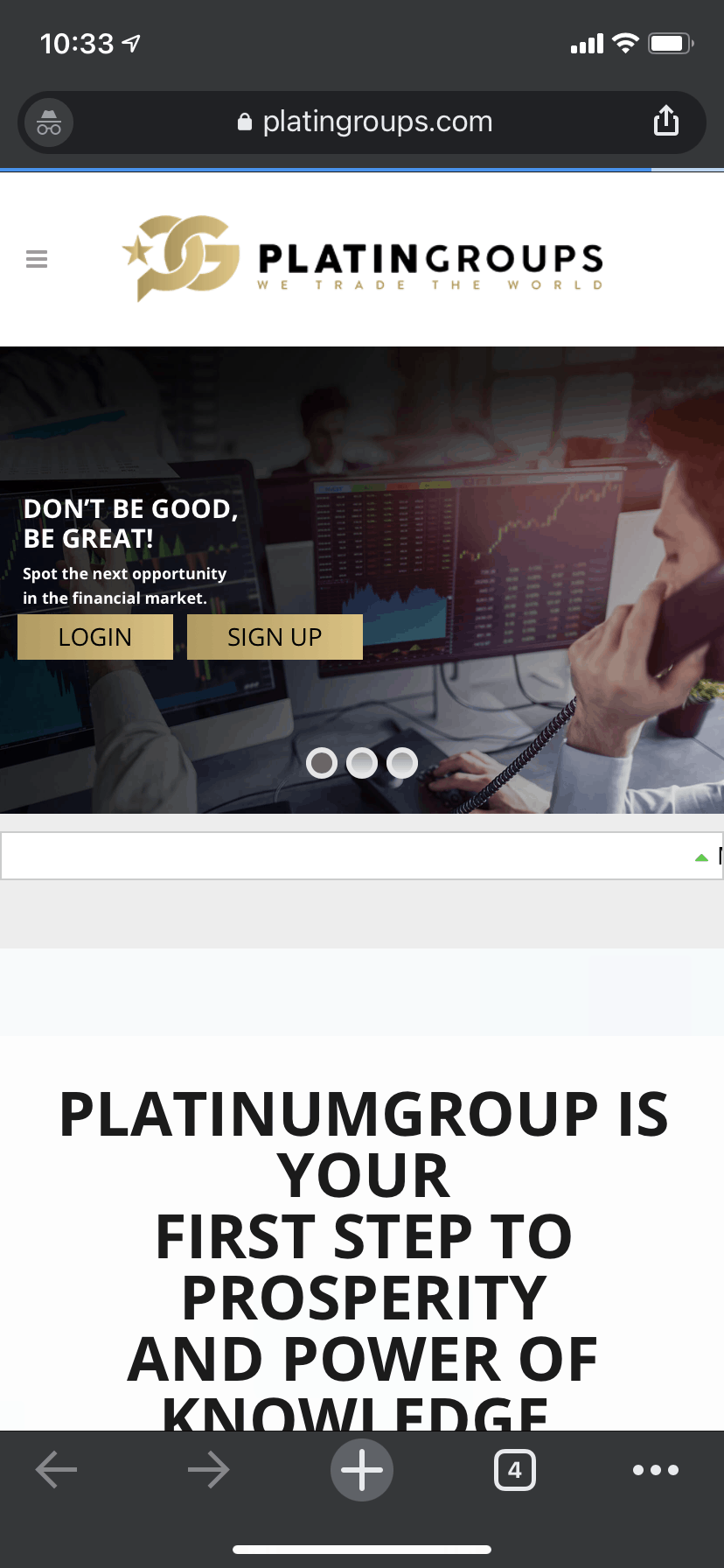 Scammed By Platingroubs
